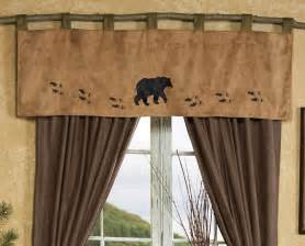 Curtains For Cabins Wildlife Tracks Valance