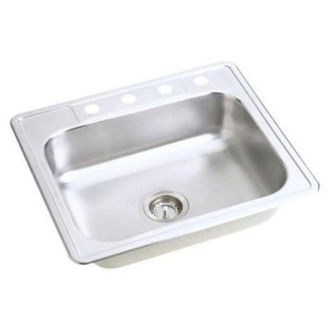 single bowl kitchen sink top mount elkay neptune top mount stainless steel 25x22x7 4