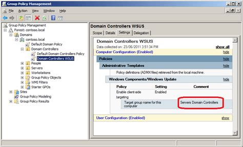 group policy  wsus