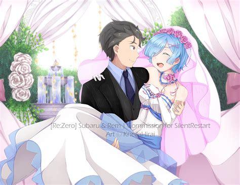 subaru and emilia married commission subaru and rem wedding by kheilahirai on