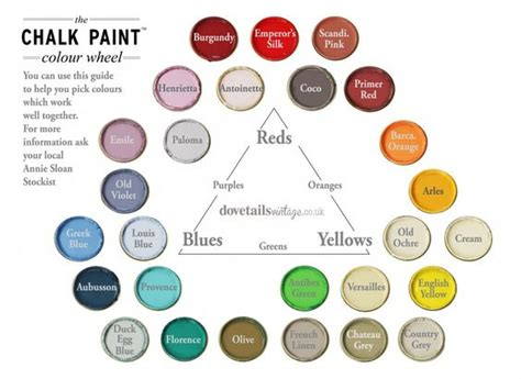 colour wheel sloan colours and chalk paint furniture on