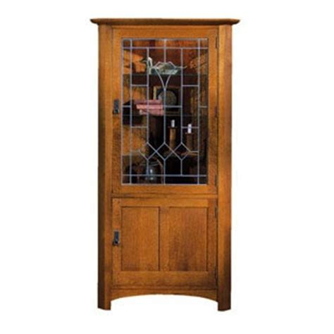 Stickley Cabinet by Stickley Corner Cabinet W Glass Stickley Mission And