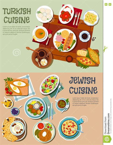national cuisine of national cuisine of turkey and flat icon stock