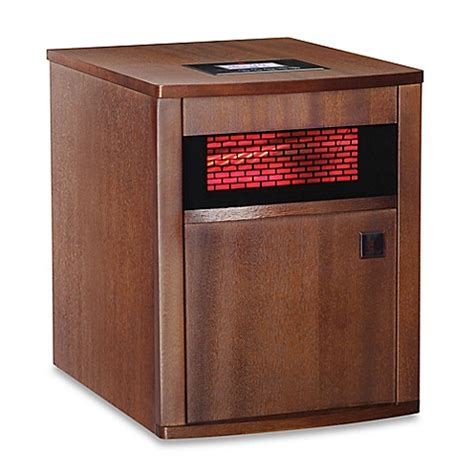bed bath and beyond handy heater redcore 174 w2 infrared room heater in mahogany bed bath