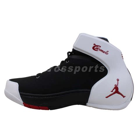 nike melo 1 5 carmelo anthony black white mens