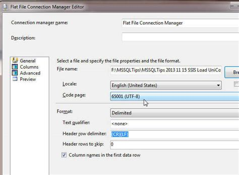 file format converter utf 8 import utf 8 unicode special characters with sql server