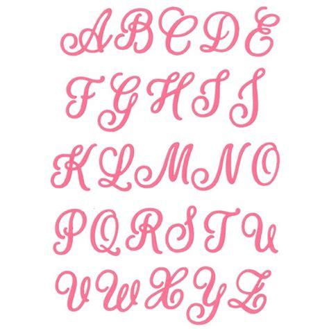 lettere dell alfabeto in corsivo maiuscolo fustelle cut mi alfabeto corsivo maiuscolo fustelle