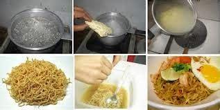 memasak mie instan  benar  terindah