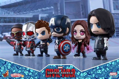 Cosbaby Set Of 5 Civil War New Misb previews of the new captain america civil war cosbaby