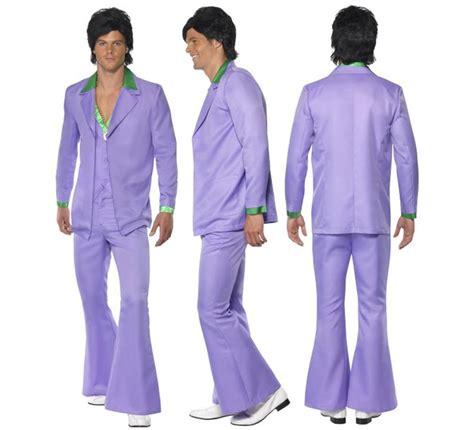 falsas apariencias terciopelo bolsillo disfraz fiebre de los a 241 os 70 lavanda para hombre talla l disfrazzes tienda de disfraces online
