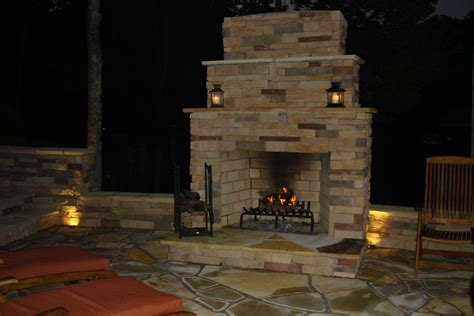 what material should i use for an outdoor fireplace