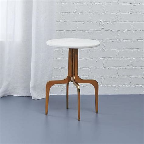 White Marble Side Table by Dorset White Marble Side Table
