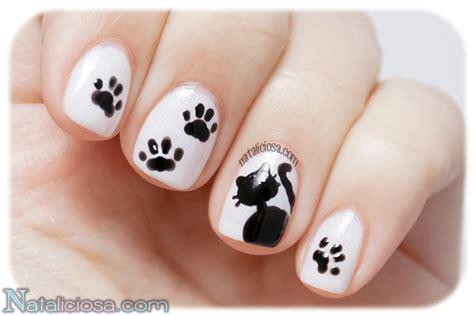 imagenes de unas decoradas faciles de hacer para los pies tutorial manicura de gato negro para halloween