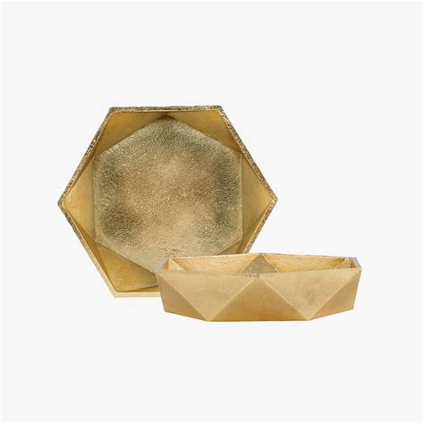 little house shop brass geometric bowl by the little house shop notonthehighstreet com
