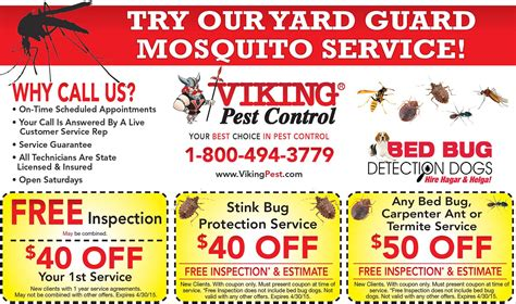 printable grocery coupons nj viking pest control 187 mailer viking pest control nj