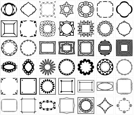 free photoshop shapes frames free frame and border custom shapes for photoshop