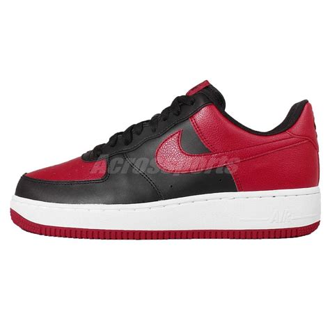 mens nike air 1 low casual shoes nike air 1 low bred black mens casual shoes af1