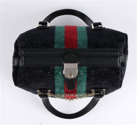 Secret Lockit Embossed Top Handle With Bag gucci quot treasure small boston quot horsebit embossed black