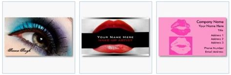 free card templates with lipstick business card templates for and cosmetics professionals