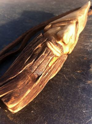 bushcraft tutorial wood spirit carving  pear wood