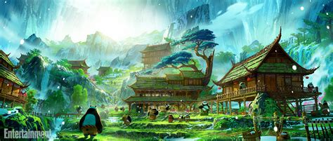 Paramount Home Decor Breathtaking Kung Fu Panda 3 Concept Art Reveals Panda