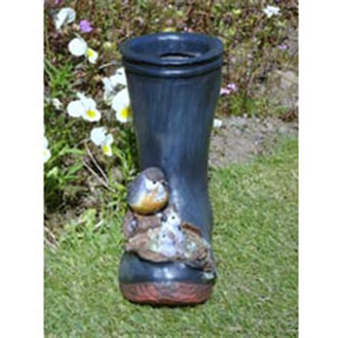 Welly Boot Planter by Blue Welly Boot Planter With Birds