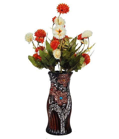 orchard ceramic flower vase with 30 orange white