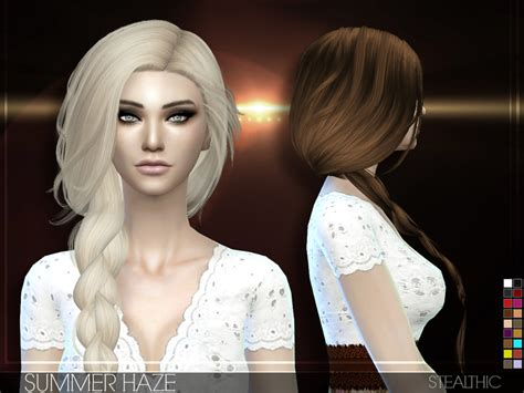 sims 4 female braids stealthic summer haze female hair