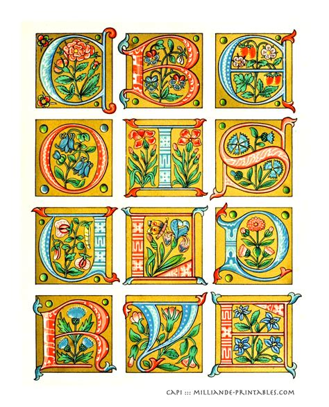 printable illuminated alphabet 10 best images of manuscript printable alphabet art