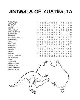 printable word search australia australia day coloring pages 4 coloring kids