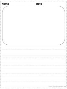 free printable lined paper with picture box writing paper with lines and picture box writefiction581