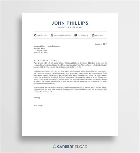 Word Cover Letter Template Sarahepps Com Modern Letter Template