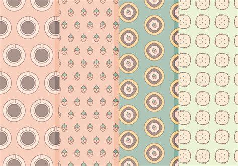 pattern food vector vector dessert food patterns download free vector art