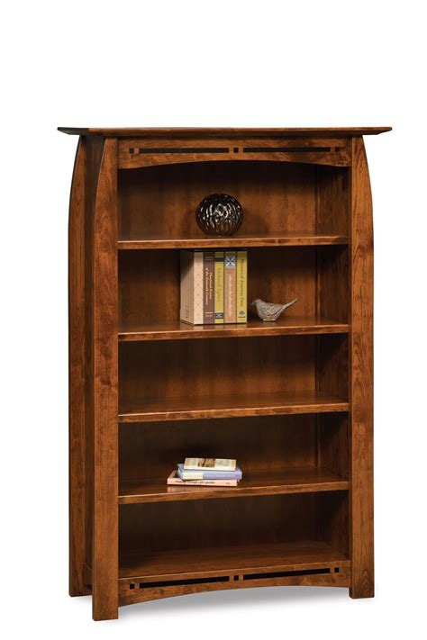 boulder creek bookcase  wide  dutchcrafters amish