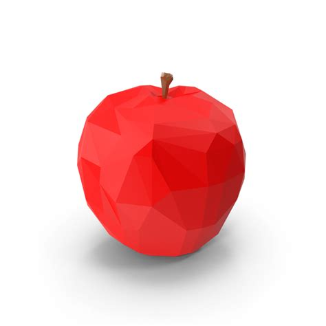 Poly Apple fruit png images psds for pixelsquid