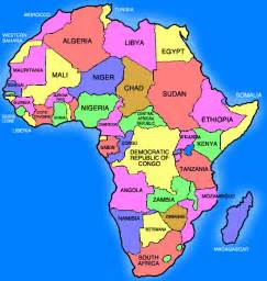 Map of africa with capitals labeled