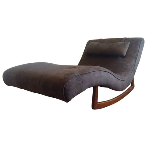 adrian pearsall rocking chaise adrian pearsall wave chaise rocker for craft associates at