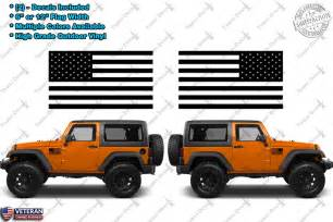 American Flag Jeep 2 Us Flag Vinyl Decals Fits Jeep Wrangler American Flag