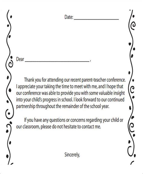 Thank You Letter To For Conference 7 Sle Thank You Notes For Meeting 7 Exles In Word Pdf