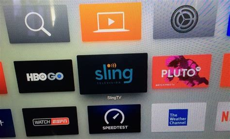 sling tv app briefly appears  apple tv app store