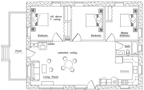 rectangle floor plans rectangular square earthbag house plans