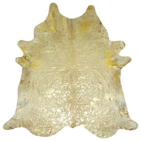 gold cowhide rug gold metallic on white large cowhide eclectic area rugs by chesterfield