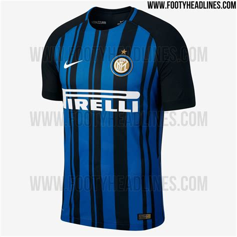 Inter Jersey inter milan 17 18 home kit released footy headlines