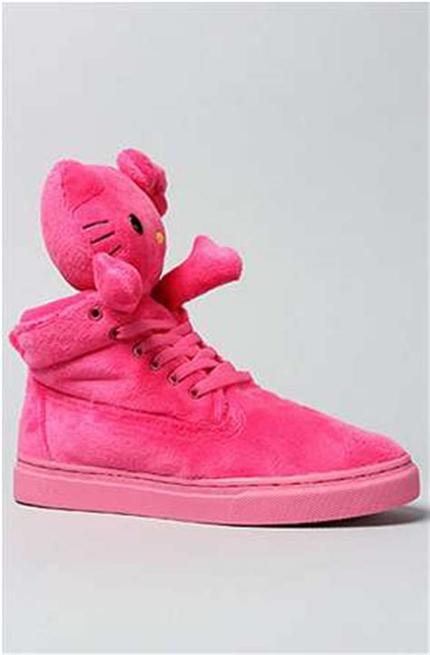 plush toy feline shoes  kitty sneakers