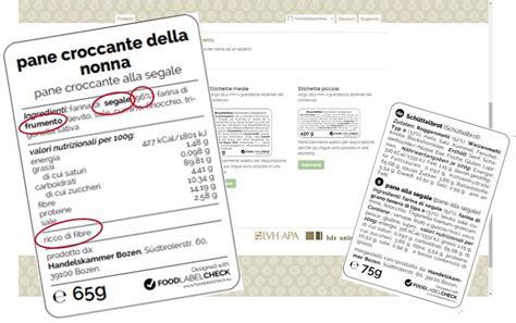etichetta alimenti etichette alimenti arriva food label check artigiani