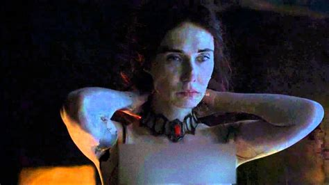 who is the lady in the game of war advert melisandre the red woman transformation game of thrones