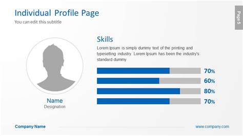 profile picture template company profile powerpoint template