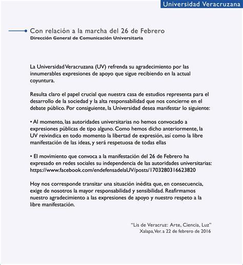 agradecimiento de tesis para mi universidad ejemplo con relaci 243 n a la marcha del 26 de febrero comunicaci 243 n