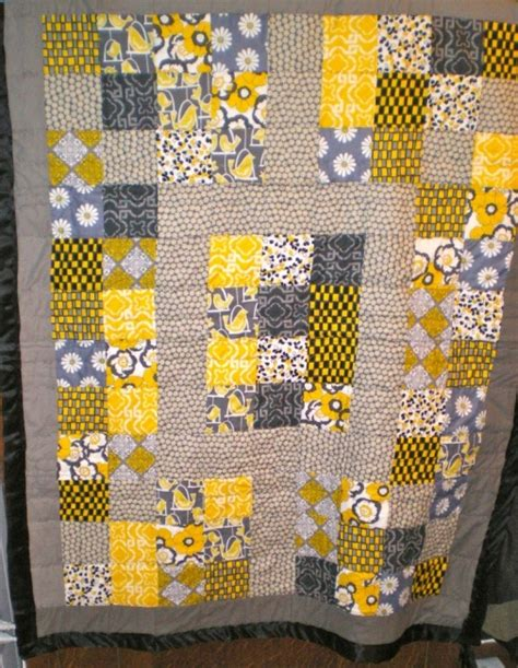 Buy Handmade Quilts by Birdies And Daisies Or Baby Quilt By Youthfulzombie