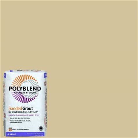 custom building products polyblend 122 linen 25 lb sanded grout pbg12225 the home depot